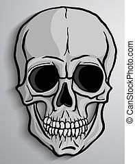 Human Skull vector - Human skull over gray background....