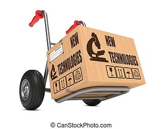New Technologies - Cardboard Box on Hand Truck. - New...