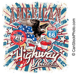 american rider crack - american highway vector illustration...