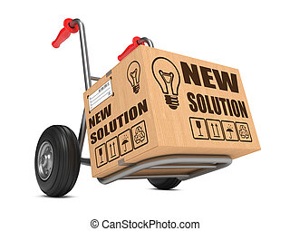 New Solution - Cardboard Box on Hand Truck. - New Solution...
