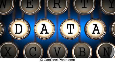Data on Old Typewriter's Keys. - Data on Old Typewriter's...