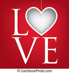 quot;Lovequot; heart Valentines Day card in vector format -...