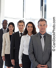 business CEO leading team - CEO leading a team of workers