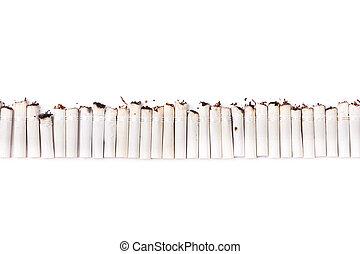 Cigarette Line - A line made of cigarette filters