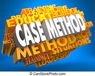 Case Method on Yellow WordCloud. - Case Method on Yellow...