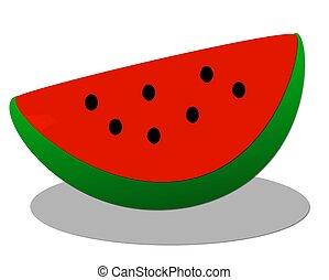 illustration of melon slice on white