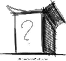 Open box icon isolated on white - Open store box icon...