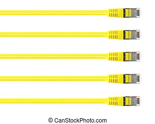 Ethernet Cable - Ethernet cables isolated against a plain...