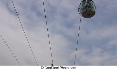 Cable car road - Common view with sky in background