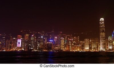 Hongkong #2 - Night panoramic time-lapse, laser show