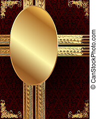 Gold frame with pattern 10