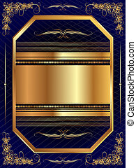 Gold frame with pattern 13