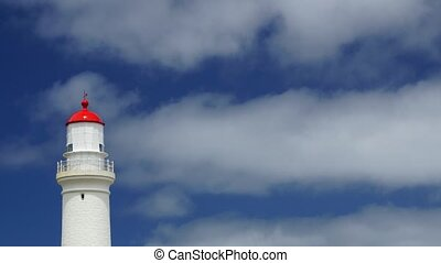 Lighthouse and clouds