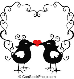 ornamental loving birds