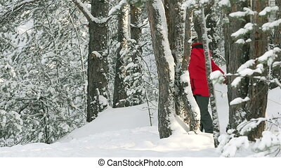 Winter Vacation - Slow-motion of active children enjoying...