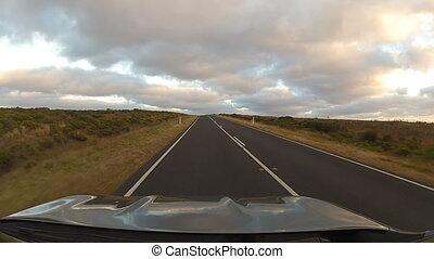 Road on great ocean road - Panoramic view, Australia