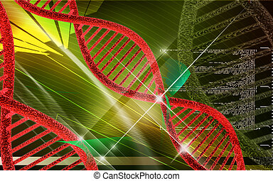 DNA - Digital illustration DNA structure in colour...