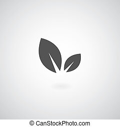 Eco symbol on gray background