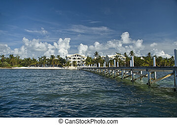 Caribbean resort - A resort with dock on the Caribbean side...