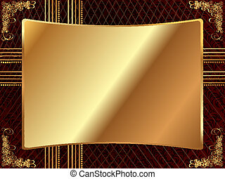 Gold frame with pattern 4