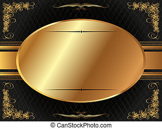 Gold frame with pattern 6