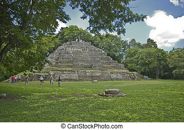 Jaguar Temple at Lamanai - The Jaguar Temple at the Lamanai...