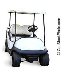 golf, carrito, aislado