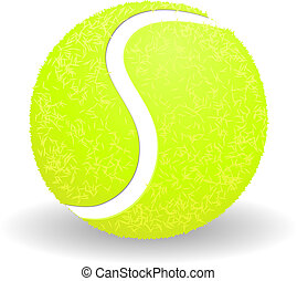 Tennis ball isolated on white background vector illustration