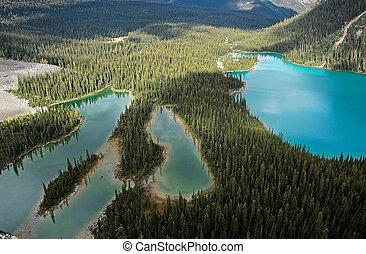 Mary Lake and Lake O'Hara, Yoho National Park, Canada - Mary...