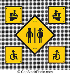 toilet sign vector general needed for use