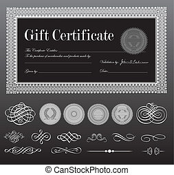 Vector Black Certificate Set