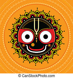 Jagannath Indian God of the Universe Lord Jagannatha