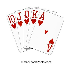 Royal Flush hearts
