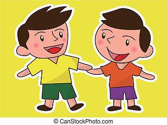 happy friends or children