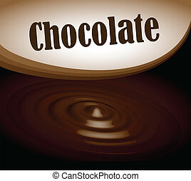Chocolate splash text frame eps10 - Dark Chocolate splash...