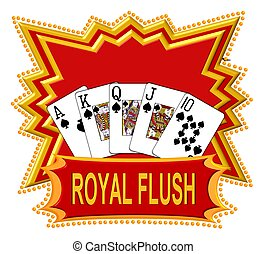 Royal Flush Logo red