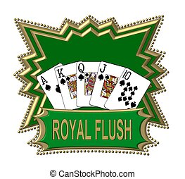 Royal Flush Logo green