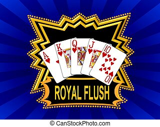 Royal Flush Logo blue