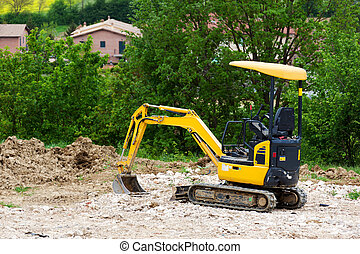 Earthmover on a construction site
