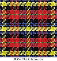 vector seamless pattern Scottish tartan, black, blue,...
