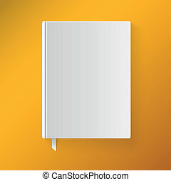 Blank book cover with a bookmark. Vector illustration. Isolated object for design and branding