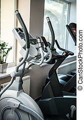 Exercise machines in a fitness club