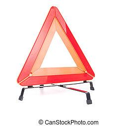 Car emergency sign isolated on white background