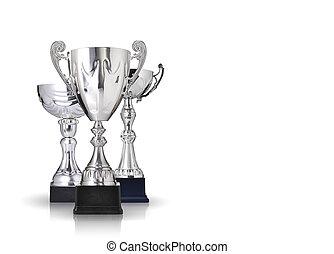 prata, troféus