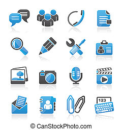 Chat Application icons - Chat Application and communication...