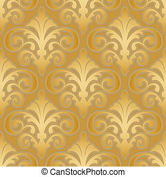 seamless gold silk wallpaper pattern