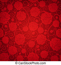 Floral pattern - Vector illustration beautiful seamless...