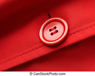 red button - red clothes fragment with button...