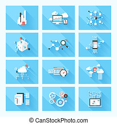 BIG data - Vector illustration concept of SEO optimization,...
