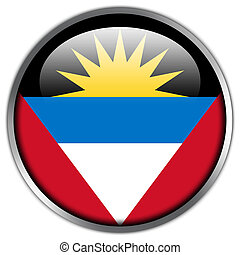 Antigua and Barbuda Flag glossy button